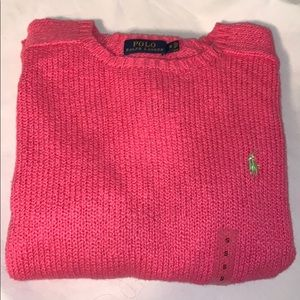 Polo by Ralph Lauren Small Pink Sweater NWT